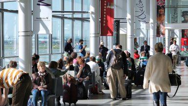 Heathrow London flyplass venteomrade terminal