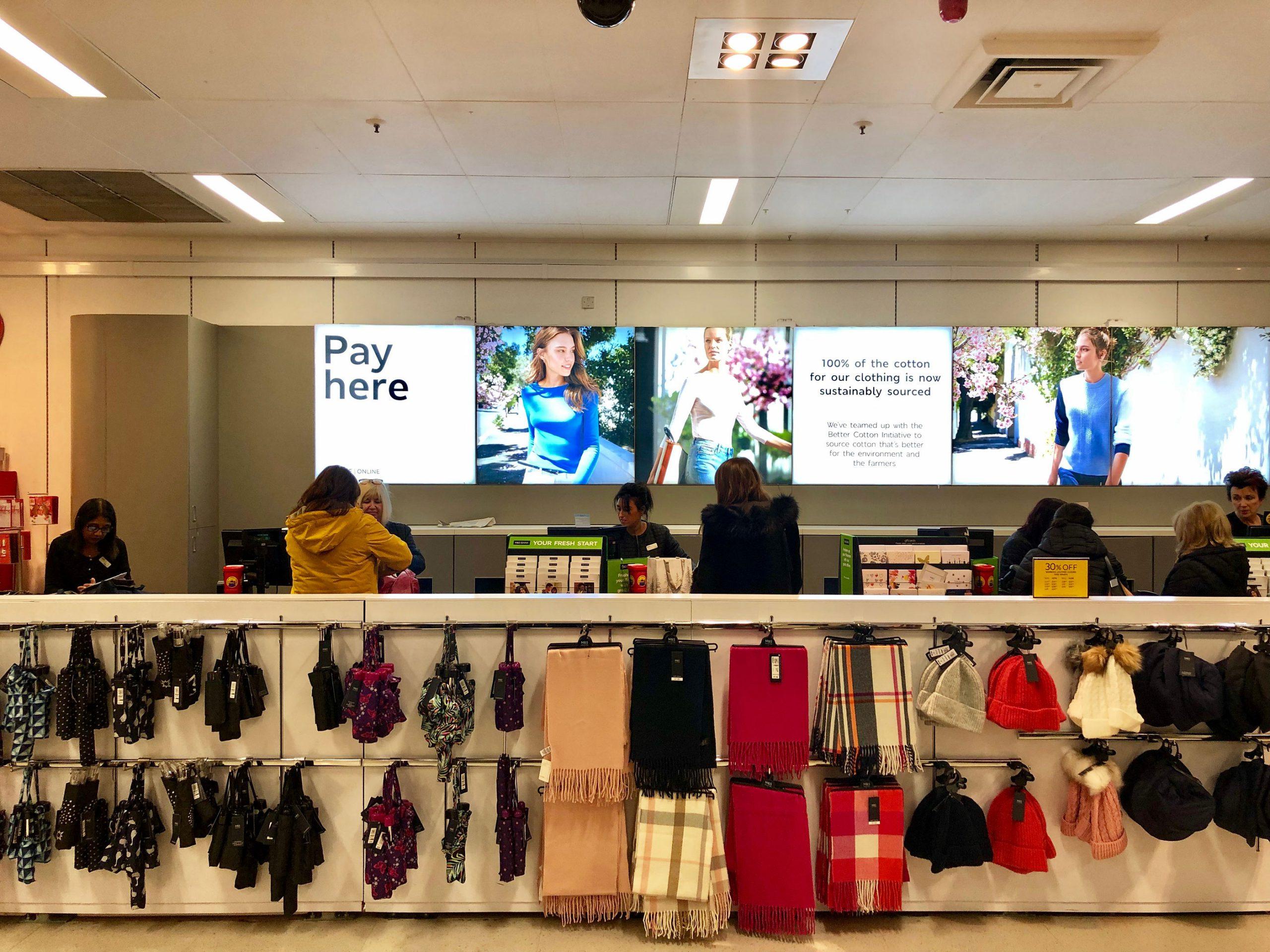 Marks and Spencer London butikk shopping