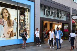 TopShop London butikk Oxford Street handlegate