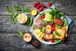 Ploughmans lunch mat London matliste England