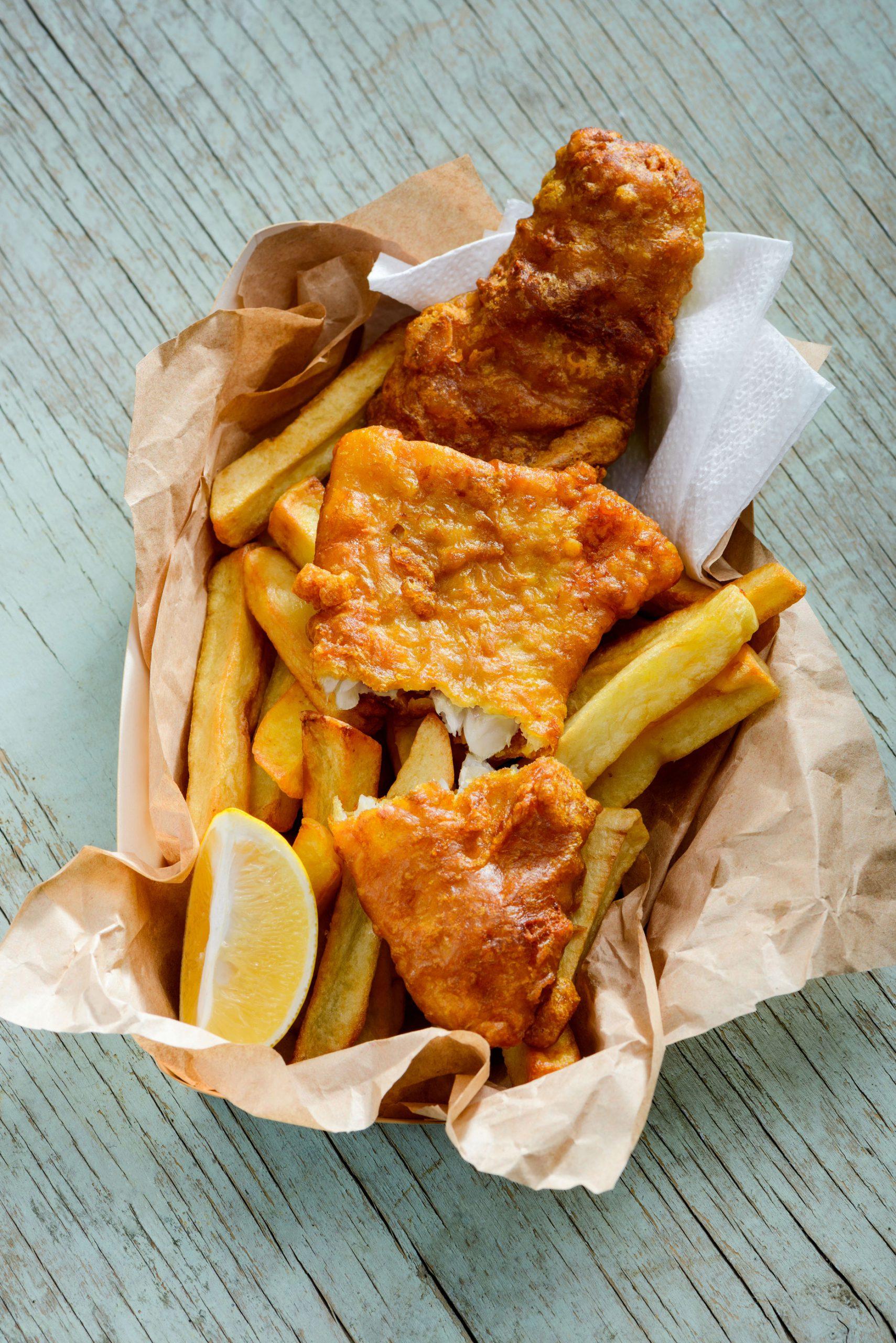 fish chips engelsk tradisjonsmat London England mat
