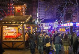 leicester square julemarked jul london