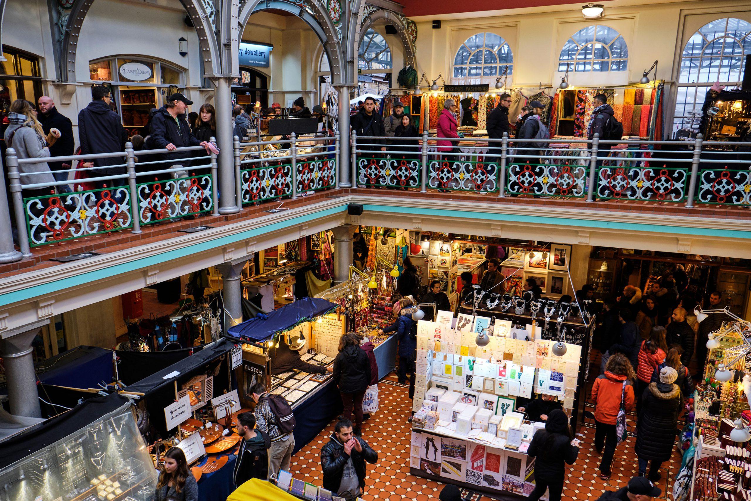 Camden Market London shopping butikker