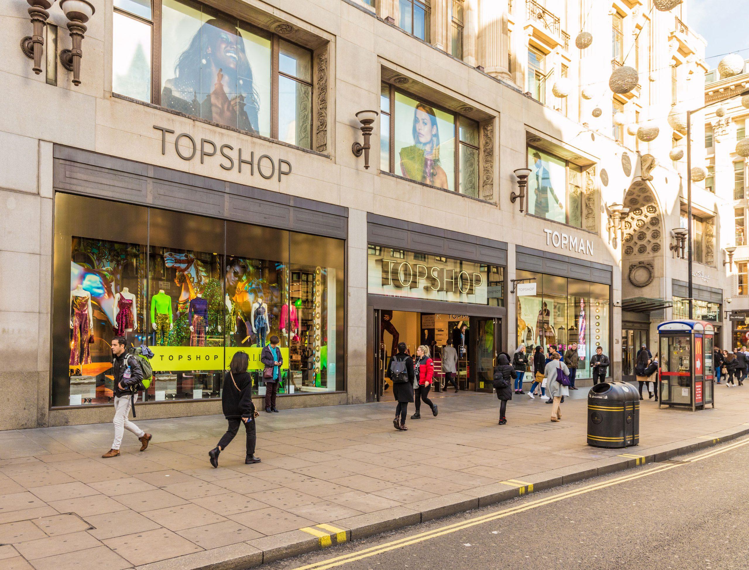 Topshop London Oxfors Street butikk shopping